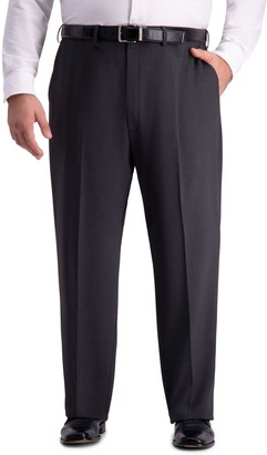 Haggar Big & Tall J.M. Premium 4-Way Stretch Classic-Fit Flat-Front Suit Pants