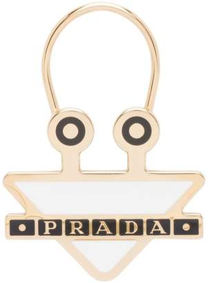 Prada metal logo keychain