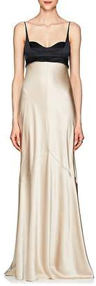 Narciso Rodriguez Women's Silk Charmeuse Bustier Gown
