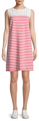 Tommy Hilfiger Cassis Striped Lace Yoke Dress