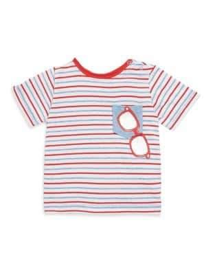 Baby's Striped Sunglasses Tee