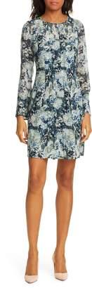 Club Monaco Delaynee Long Sleeve Silk Dress