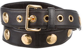 Miu Miu Miu Miu Studded Leather Belt