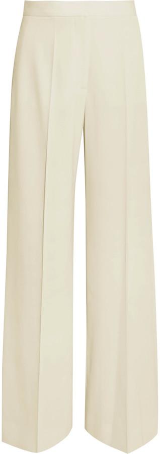 Stella McCartneyStella McCartney Wool-twill wide-leg pants