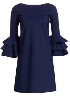 Chiara Boni Women's May Tiered Bell Sleeve A-Line Dress - Blue - Size 38 (2)