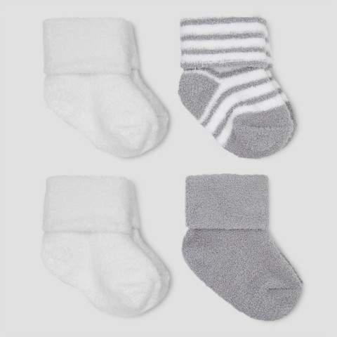 Just One You made by carter Baby Boys' 4pk Chenille Socks - Just One You Made by Carter's® Gray/White