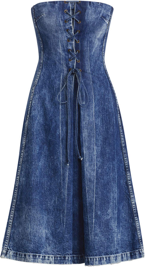 Ralph Lauren Esmee Denim Strapless Dress