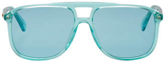 Gucci Blue Transparent 80s Monocolor Sunglasses
