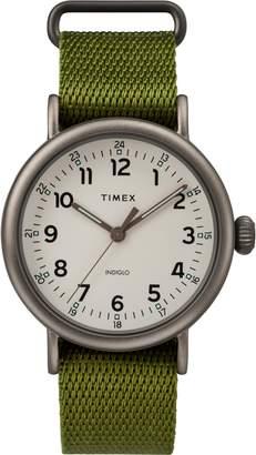 Timex R) Standard Textile Strap Watch, 41mm