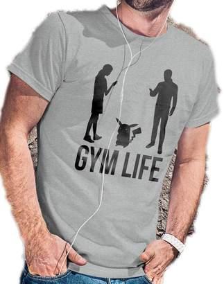 Pokemon LeRage Shirts Gym Life Funny Go Shirt MEN'SGrey 2XL