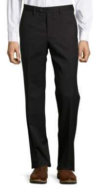 Versace Pinstriped Flat-Front Pants