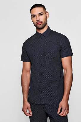 boohoo Polka Dot Short Sleeve Shirt