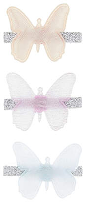 Accessorize 3x Butterfly Salon Hair Clips