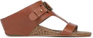 Donald J Pliner DAYNA, Burnished Calf Leather Wedge Sandal