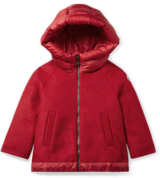 Moncler Ages 4 - 6 Mareva Hooded Wool-blend Felt And Quilted Shell Down Jacket