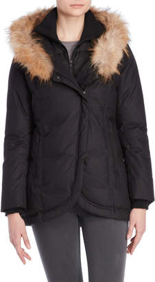 Soia & Kyo Real Fur-Trimmed Hooded Down Coat