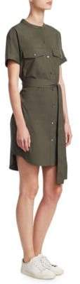 Theory Belted Cargo Shirt Dress