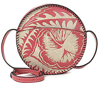Patricia Nash Cuban Carved Collection Scafati Round Cross-Body Bag $99 thestylecure.com