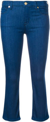 Love Moschino cropped bootcut jeans