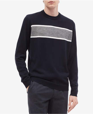 Calvin Klein Men's Textured Stripe Merino Sweater