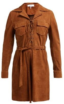 Frame Suede Shirtdress - Womens - Light Brown
