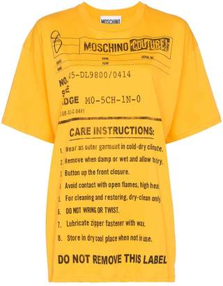Moschino oversized care label-print T-shirt