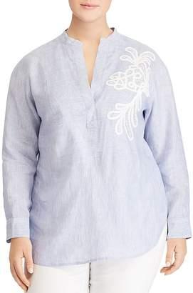 Lauren Ralph Lauren Plus Embroidered Tunic Top