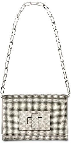 Swarovski Allegro Silver Evening Bag