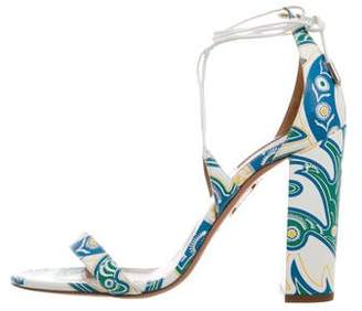 Aquazzura Lily 105 Leather Sandals