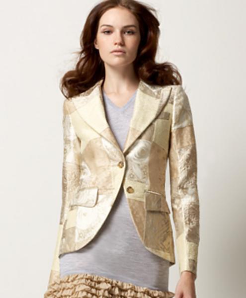 D&G Dolce & Gabbana Runway Patchwork Brocade Blazer