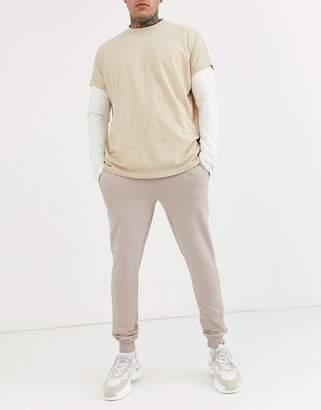 BEIGE Asos Design ASOS DESIGN super skinny sweatpants in marl