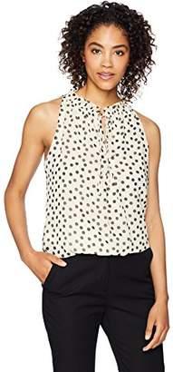 Lark & Ro Women's Woven Sleeveless Bubble Hem Top