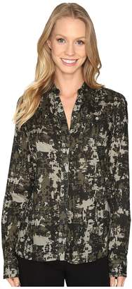 Jag Jeans Roan Shirt in Printed Rayon Women's Clothing