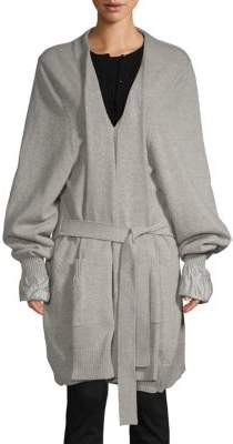 Roberto Cavalli Wool Sweater Coat