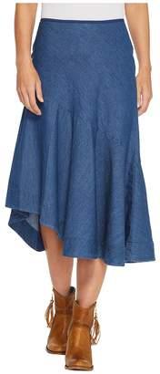 Roper 1313 5 Oz Indigo Denim Asymetric Skirt Women's Skirt