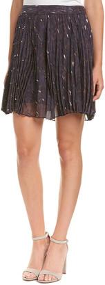Haute Hippie The Goodnight Silk-Blend Mini Skirt