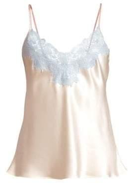 Ginia Lace-Trimmed Silk Cami