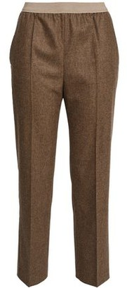 Agnona Mélange Wool-Blend Straight-Leg Pants
