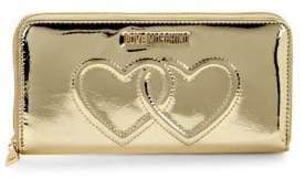 Love Moschino Metallic Zip-Around Long Wallet