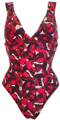 """Lisa King Red Camouflage Swimsuit """"Karla"""""""