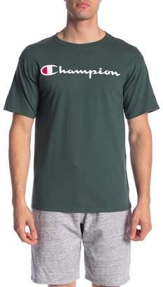 Champion Logo Print Crew Neck Tee