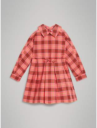 Burberry Check Cotton Drawcord Dress , Size: 14Y