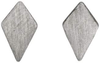 Dutch Basics - Ruit Stud Earrings Oxidized Silver