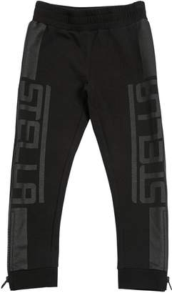 Stella McCartney Logo Printed Cotton Sweatpants