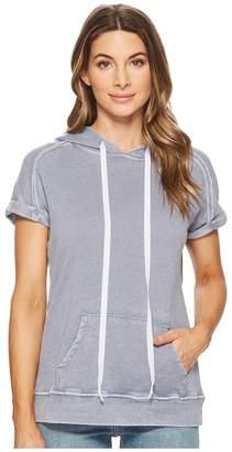 Allen Allen Short Sleeve Hoodie Women's Sweatshirt