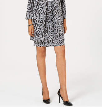 Alfani Jacquard Printed Pencil Skirt
