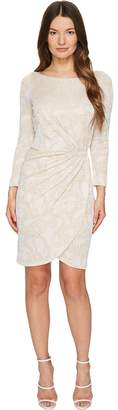 Just Cavalli Jersey Long Sleeve Snake Jacquard Print Dress Women's Dress