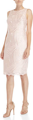 Vince Camuto Pink Sequin Sheath Dress