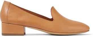 Mansur Gavriel - Venetian Leather Loafers - Camel $450 thestylecure.com