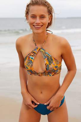 Out From Under High Neck Cut-Out Printed Bikini Top